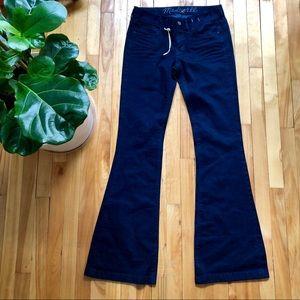 Madewell bell bottom denim jeans dark blue